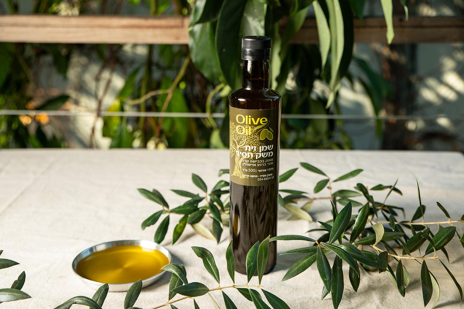 Olive Oil 500 ml Glass Bottle - Barnea Picholine