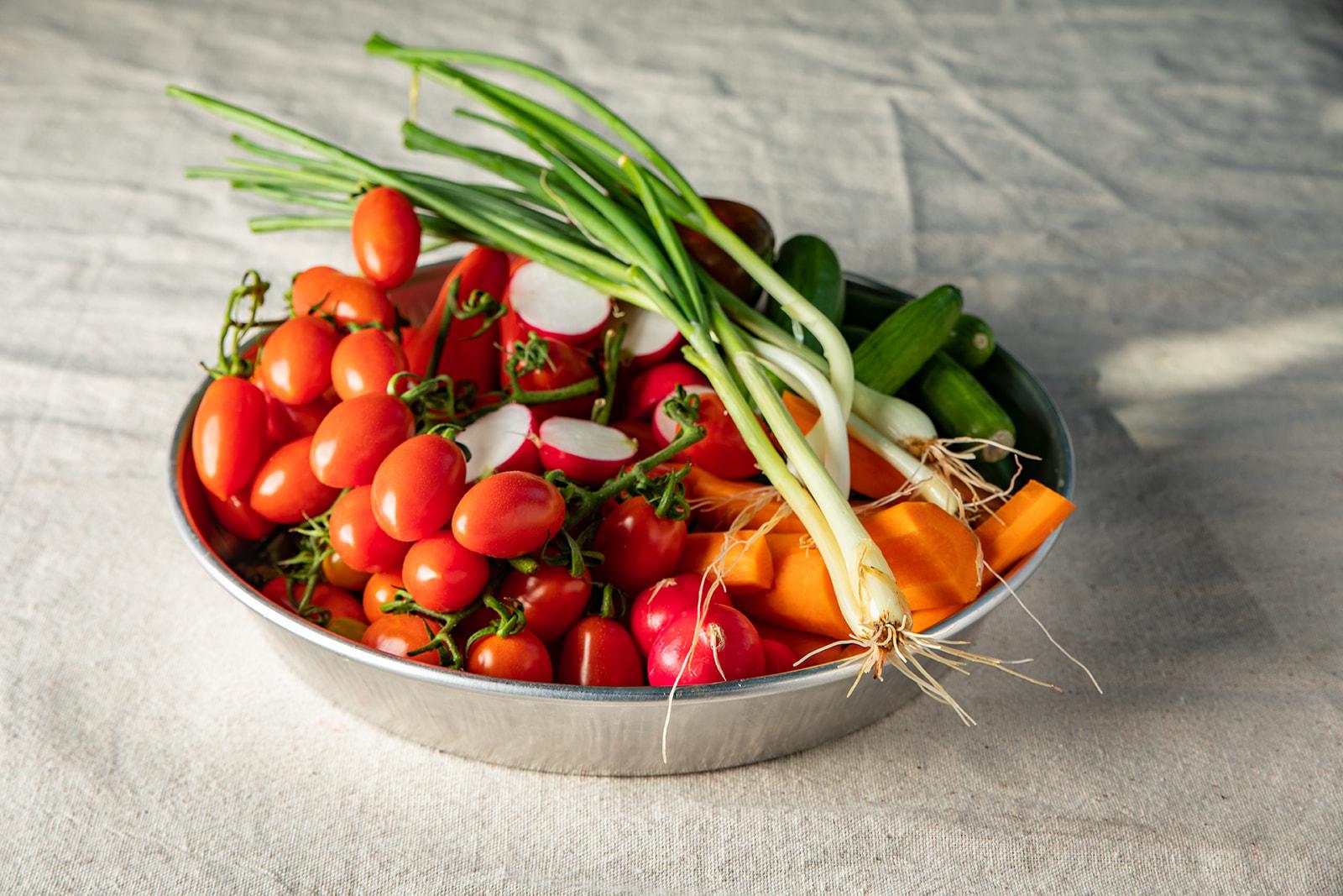 מגש ירקות גינה