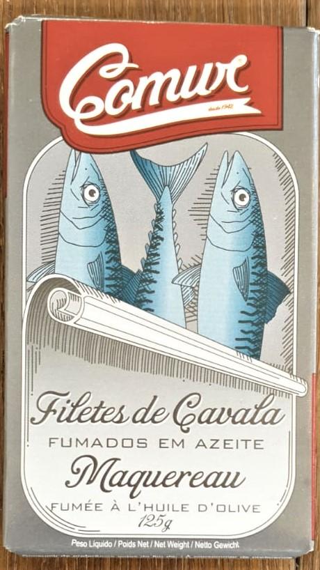 שימורי פילה דג מקרל מעושנים בשמן זית