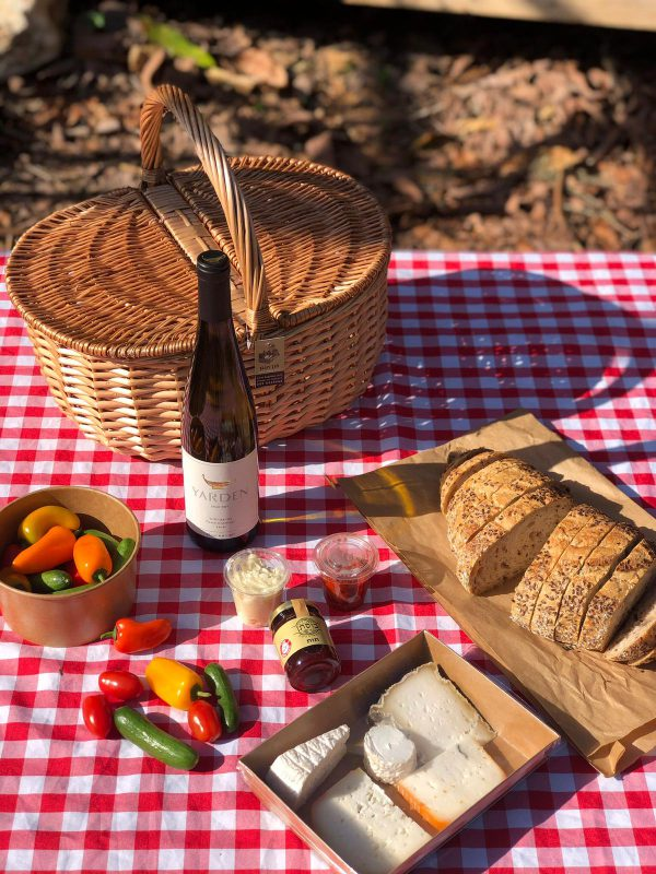 Classic Picnic Basket with Yarden Gwartz wine for two
