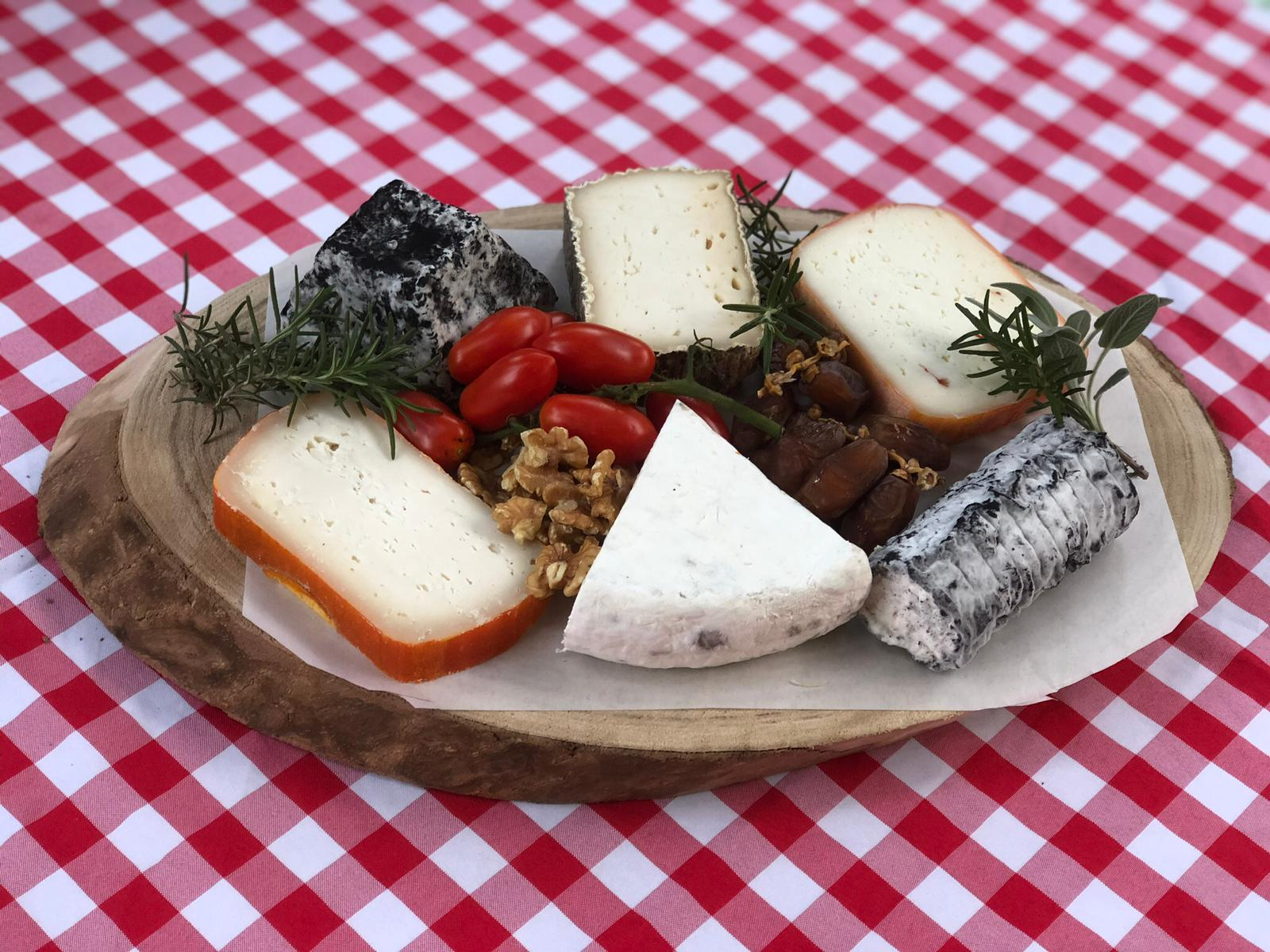 Cheese Platter for 7-9 diners with a designed oval board