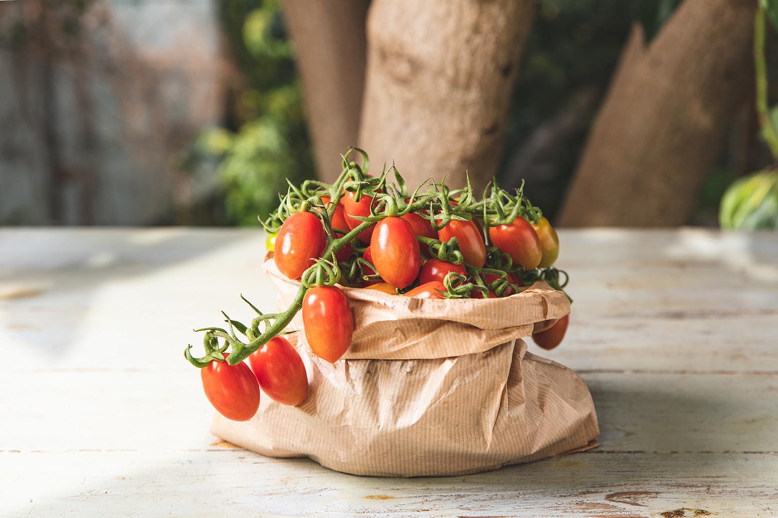 סלסלת עגבניות שרי מתוקות