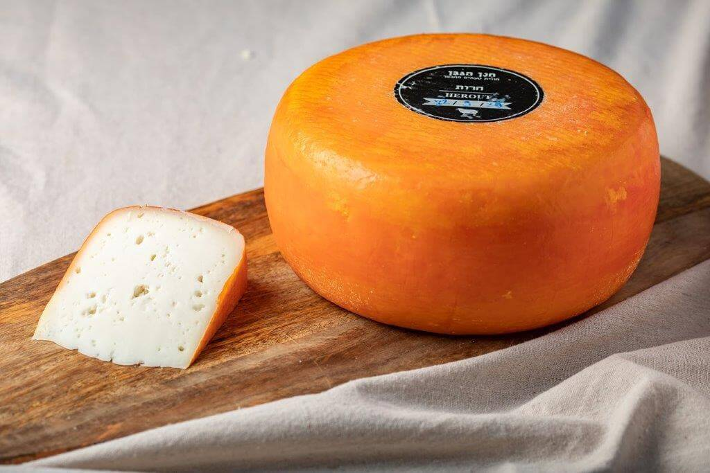 Gouda-style Sheep's Milk Herut Cheese Wedge